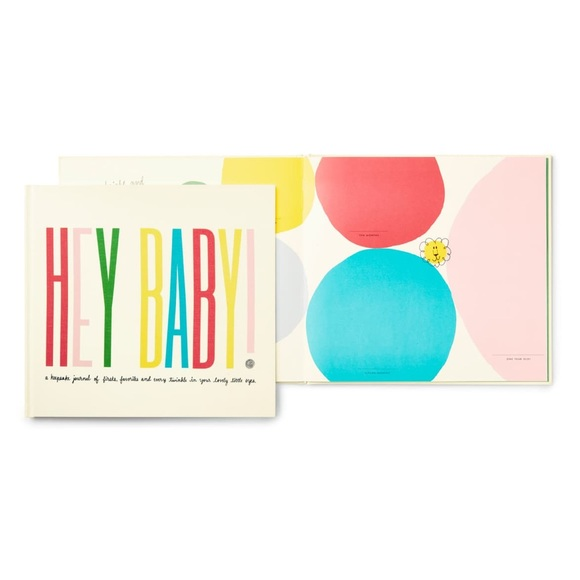 Kate Spade first year book, hey baby book